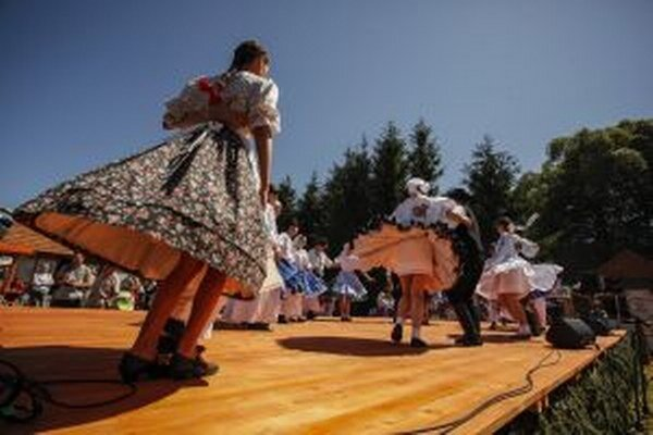 Účastníci školy Dolnozemských tancov.