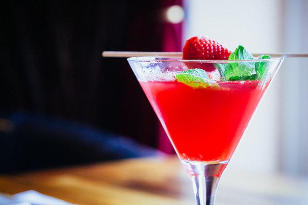 Jahodová verzia Martini