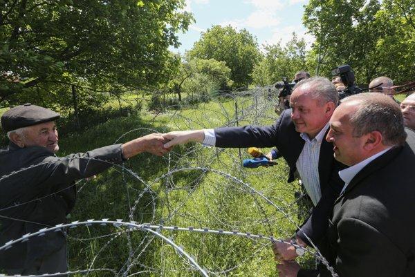 Andrej Kiska počas návštevy Gruzínska.
