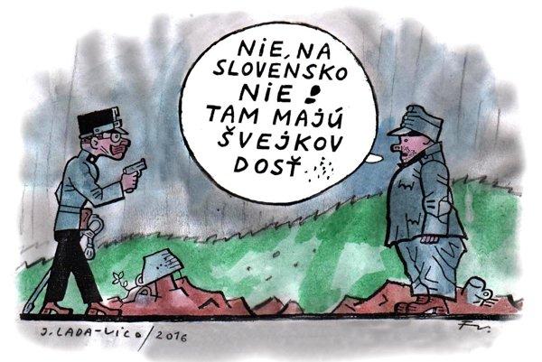 Švejk mieri na Slovensko? (Vico)
