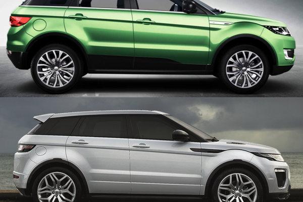 Land Wind X7 (hore) a Land Rover Range Rover Evoque
