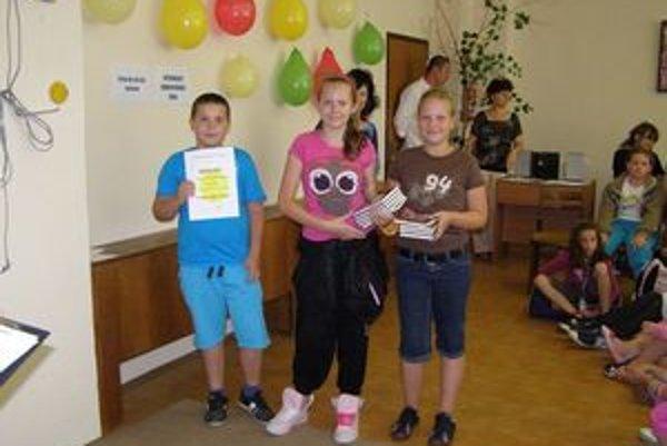 Víťazi tretej kategórie, štvrtáci zo Základnej školy v Hronských Kľačanoch.