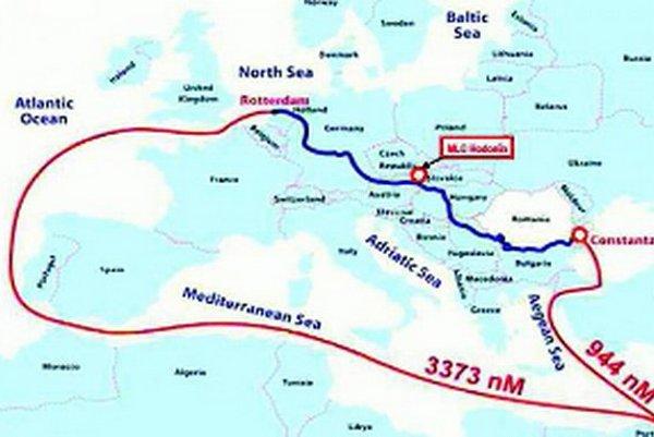 Nová dunajská vodná cesta skráti lodnú prepravu o tisícky kilometrov.
