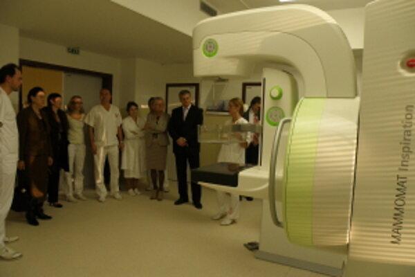 Časť mamografie.