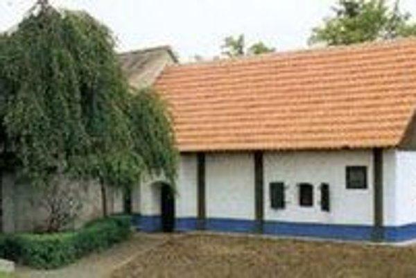 Rodný dom Jána Hollého v Borskom Mikuláši.