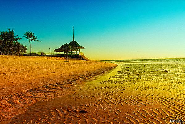 Pláž  Santa Fe na filipínskom ostrove Bantayan.