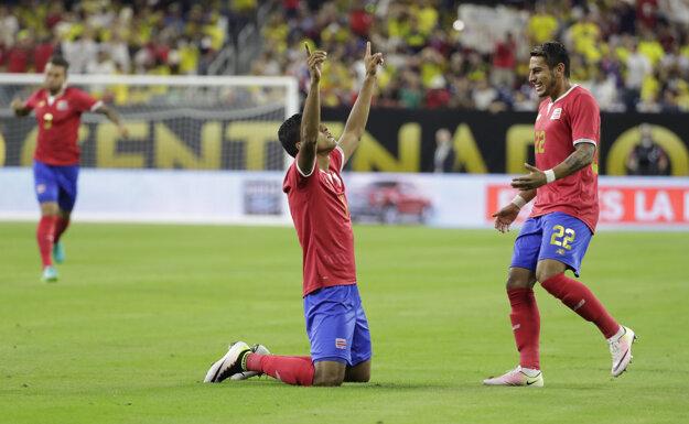 Kostarika prekvapujúco porazila Kolumbiu 3:2.
