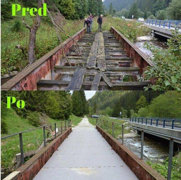 Mosty pôvodnej úzkokoľajky teraz slúžia cyklistom.