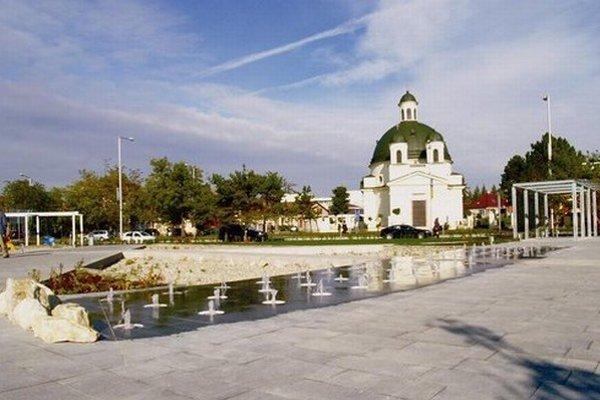 Kossuthovo námestie v Komárne.