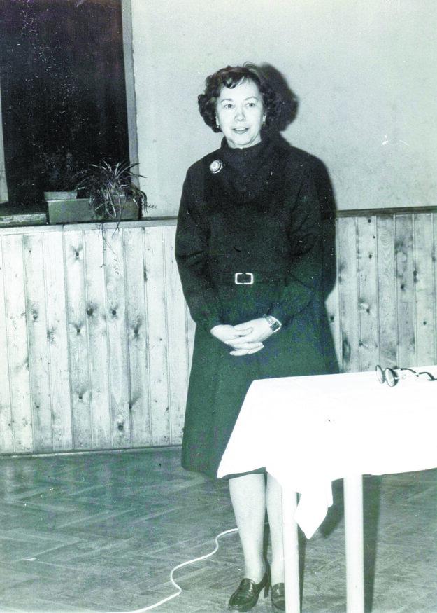 Profesorka Oľga Psotová.