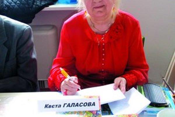 K. Halásová pri prezentácii svojej knihy v Prešove.