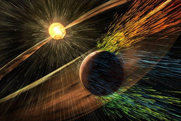 Slnečný vietor odfúkol Marsu atmosféru.