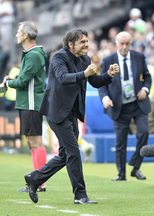 Antonio Conte mal z postupu takisto obrovskú radosť.