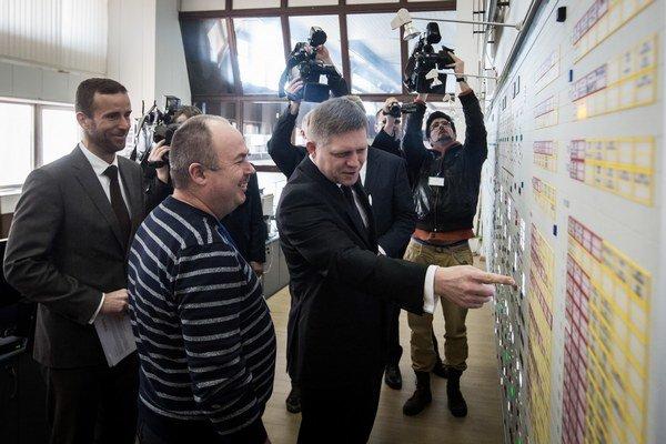 Predseda vlády SR Robert Fico počas fyzického preberania Vodnej elektrárne Gabčíkovo.