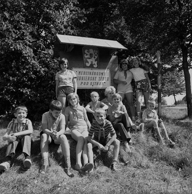 Pioniersky tábor pod Sitnom. (16. august 1973)