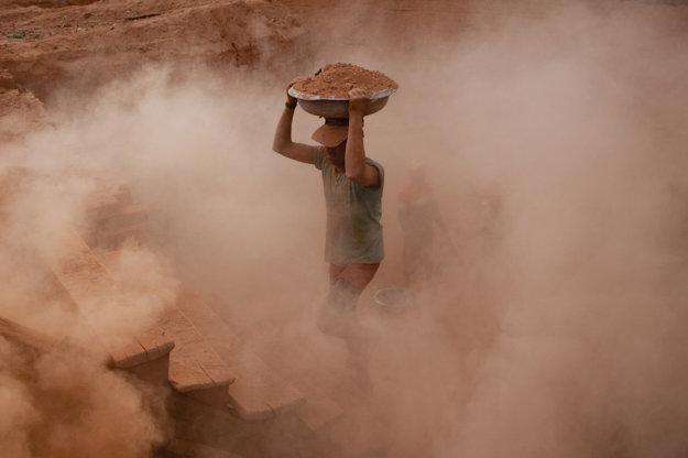 Vypaľovanie tehál v Indii