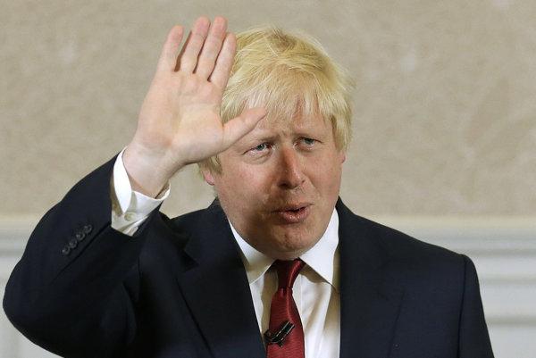 Britský minister zahraničných vecí Boris Johnson.