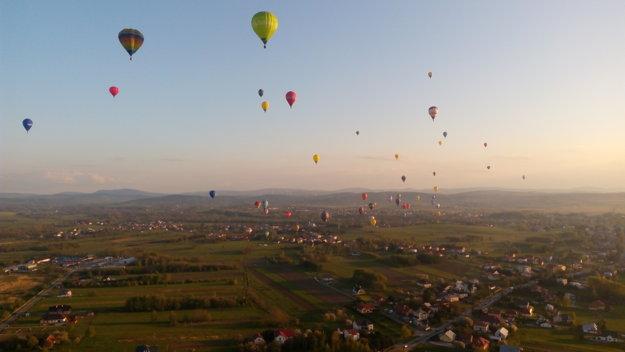 Súťaž balónov v Poľsku.
