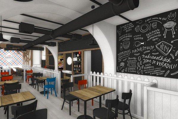 Takto by mala vyzerať prvá reštaurácia od spoločnosti Kofola.