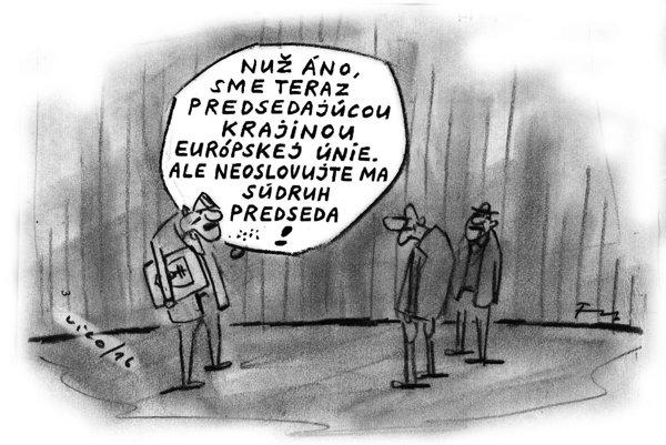 Karikatúra Fedora Vica k predsedníctvu EÚ
