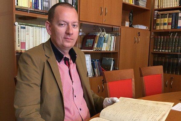 Richard Pavlovič. Riaditeľ Štátneho archívu v Košiciach.