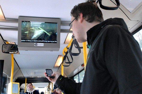 Internetové pripojenie. Využiť ho môžu cestujúci v päťdesiatich autobusoch MHD.