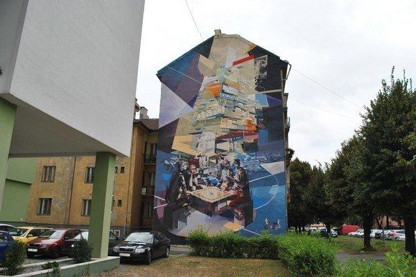 Poľský Chazme & Tone, Masarykova ulica 23. V odbornej verejnosti najrešpektovanejšia maľba v Košiciach.