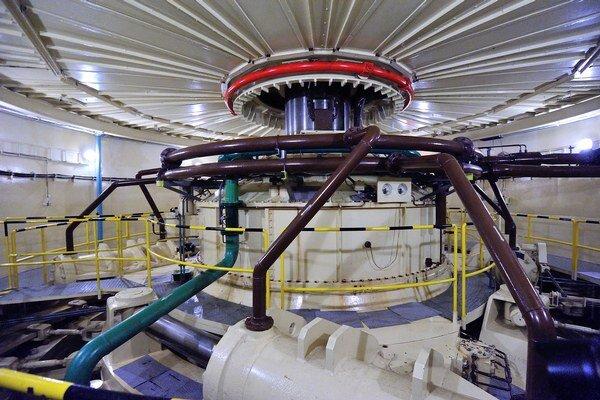 Na snímke turbína na výrobu energie vo Vodnej elektrárni Gabčíkovo.