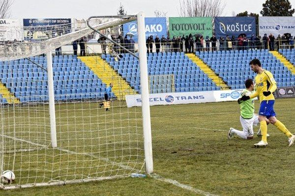 Lopta v sieti Myjavy. Nermin Haskič sa raduje, ale gól dal iný...