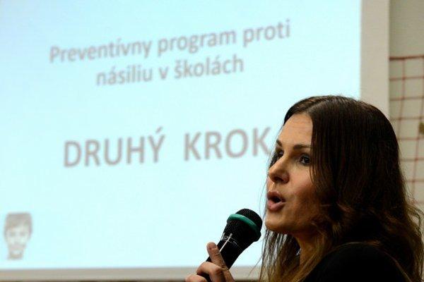 Ambasádorka projektu Bibiana Ondrejková.