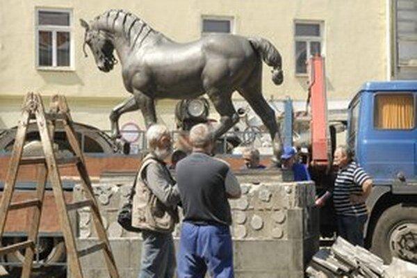Kôň Ardo skončil svoju kariéru turistickej atrakcie v roku 2012.Foto: