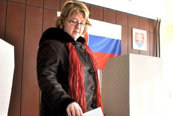 Pani Elena. Hlasovala aj za budúcnosť svojich 4 detí.