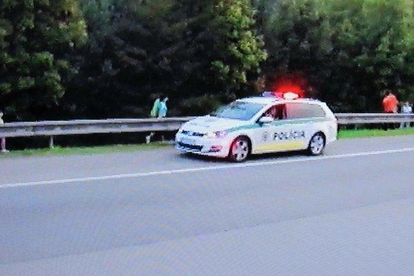 K nehode hneď prišla polícia.