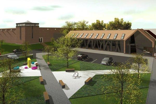 Už na vizualizácii vidieť, že polyfunkčná budova je viac vzadu.