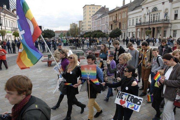 Pochod za práva neheterosexuálov.