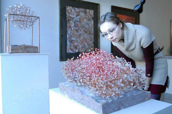 Kombinuje rôzne materiály. Zuzana Graus Rudavská tvorí šperky, objekty i obrazy.