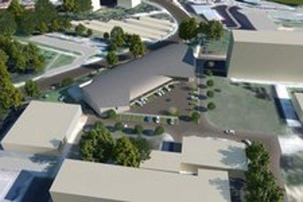 Takto by to mohlo vyzerať. Zľava cesta Ondavská, hokejová hala a internát Medická.