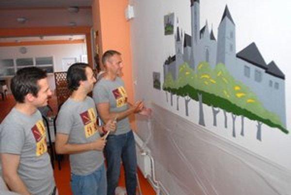 Jedáleň. Košice namaľovali s najdominantnejšími budovami.