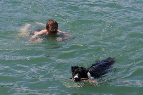 Osvieženie vo vode vyhľadávajú ľudia aj zvieratá.
