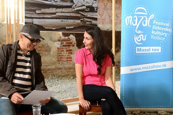 Skladateľ a hudobník Peter Breiner a umelecká riaditeľka festivalu Jana Šargová.