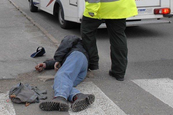 Ležiaci. Za prvý polrok tohto roka ich hliadky MsP riešili v košických uliciach takmer 270.