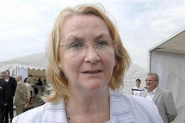 Mária Sabolová. Vyzvať súčasného župana chce s pomocou viacerých pravicových strán.