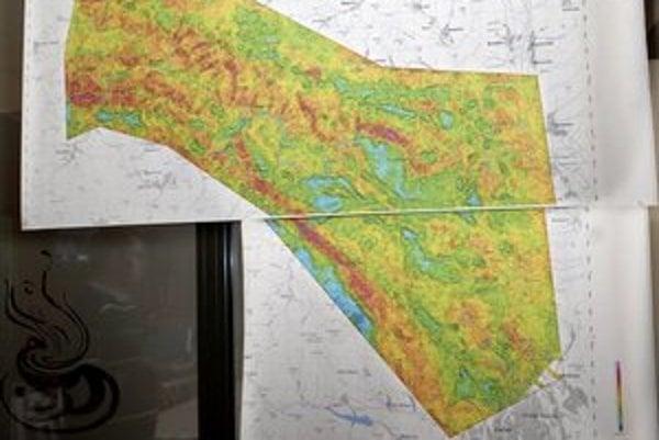 Mapa prírodnej radiaktivity. Čím tmavšia farba, tým je vyššia
