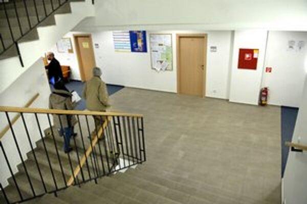 Priestory daňového úradu v Košiciach.