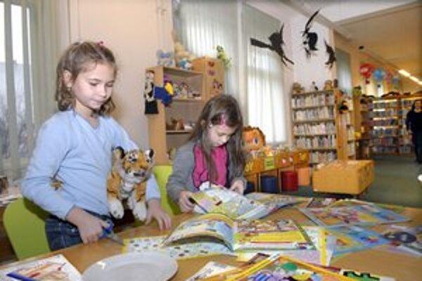 V knižnici na Tajovského ulici mali pre deti pripravený program.