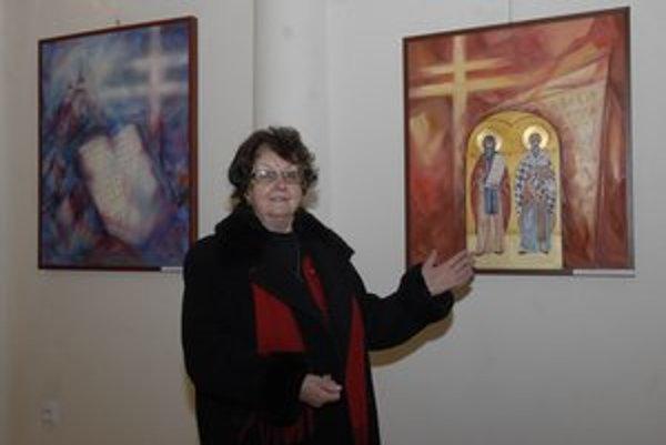 Ľudmila Lakomá - Krausová. V múzeu predstavuje výber z celoživotnej tvorby.