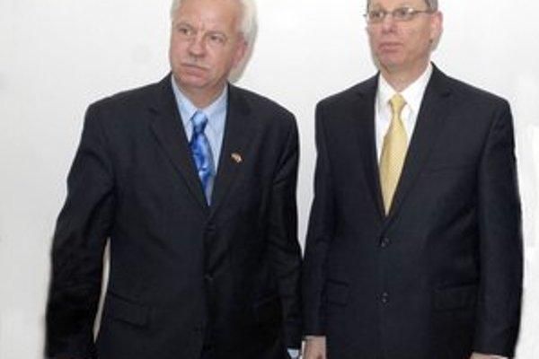George Babcoke a David Rintoul. Bývalý a súčasný šéf železiarní sa zišli najmä kvôli smrteľnému úrazu na Vysokých peciach.