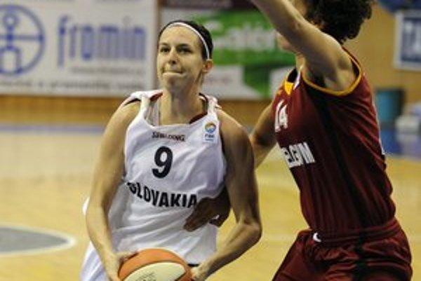 Najlepšia strelkyňa. Ivana Jalčová zaznamenala v zápase s Belgickom 14 bodov.