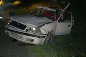 Vodič a spolujazdkyňa mali šťastie, že zviera nevletelo dovnútra auta. Mohli prísť o život.