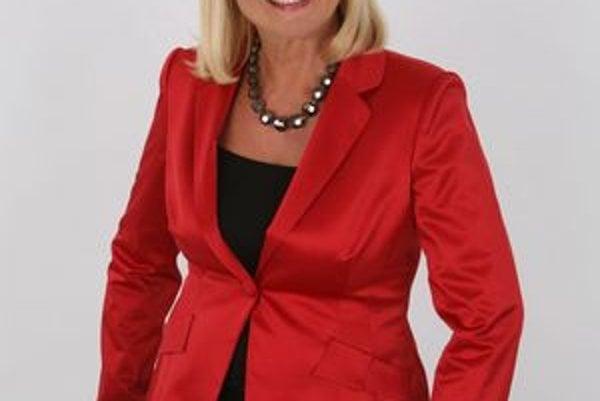 Bývalá televízna hlásateľka Ada Straková.